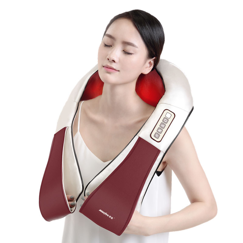 4D Electrical Body Massager Relaxation Massage Neck Back Shoulder Shiatsu vibration Infrared Kneading Home Car Acupuncture top grade vibration and kneading massage machine shoulder neck massage shawl car home dual use kneading neck shoulder massager