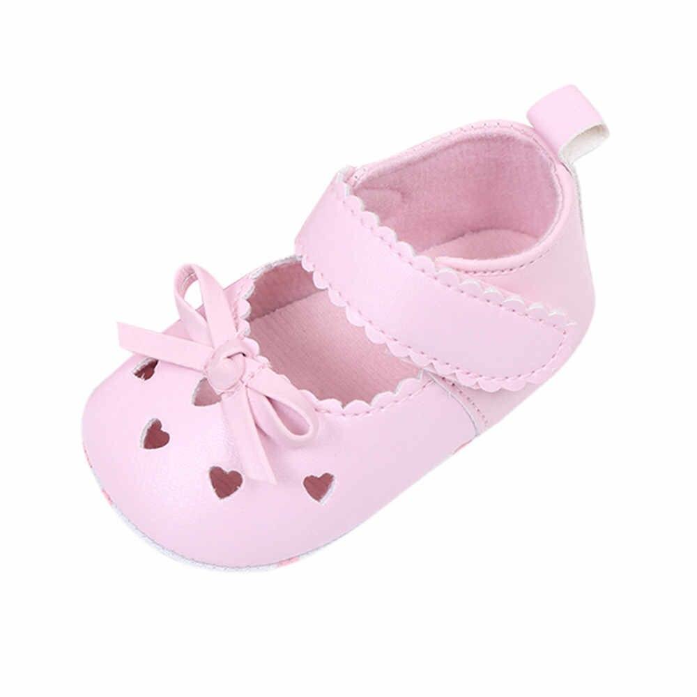 ARLONEET 2019 novedad recién nacido bebé niñas cuna zapatos suela suave antideslizante zapatillas Bowknot zapatos N04