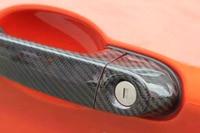 8PCS/SET Carbon fiber Car Side Door Handle Cover With LED Hole Trim for BMW F32 F33 F36 4Door 2014 2015