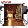 Новая фотография рождественской елки фон для камина фотостудия Виниловый фон для фотосъемки-студийный фон