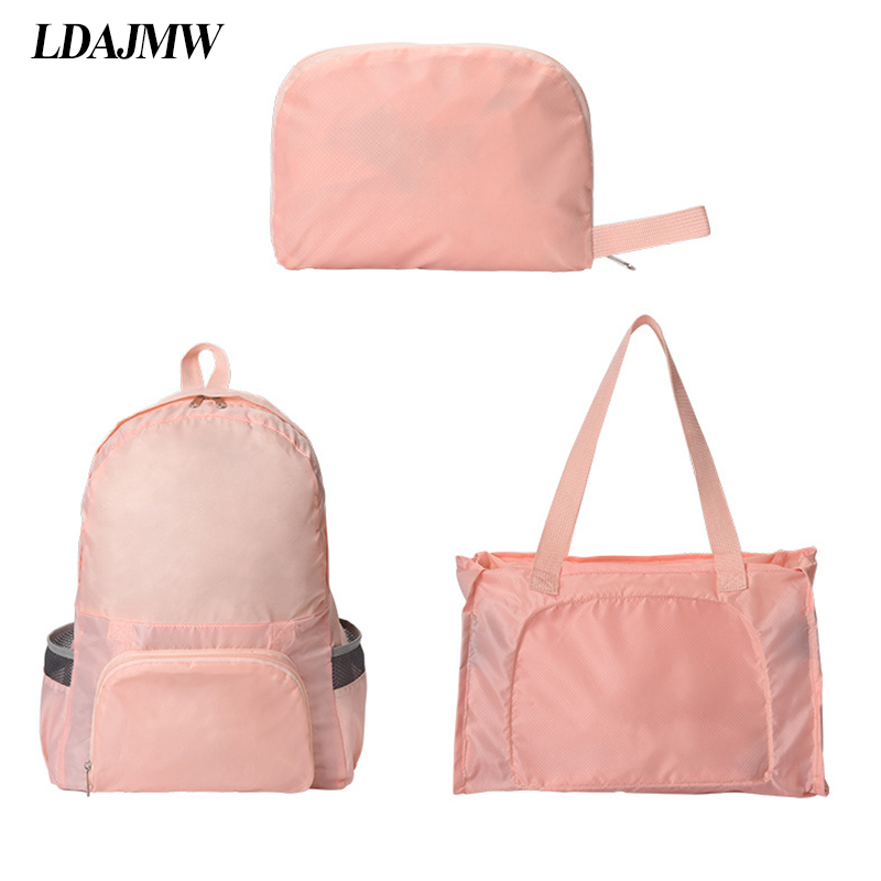 LDAJMW Lightweight Waterproof Folding Travel Backpack Bag Daypack Sports Hiking Travel Clothes cosmetics Storage Bag Organizer in Storage Bags from Home Garden