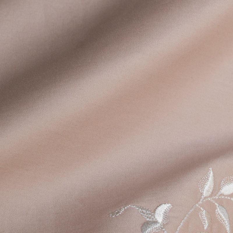 100% Algodón del Lecho de la flor Bordada Funda Nórdica Conjunto Rosa textiles p