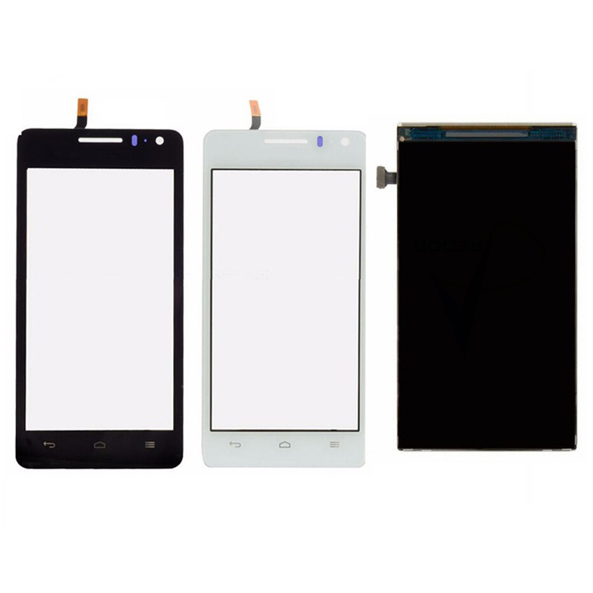 Black White Touch Screen Panel Digitizer LCD Display For Huawei G600 U8950 Phone Parts Replacement Repair