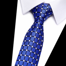 High Quality Paisley Grey Black Blue Plaid Mens Silk Tie 100% Jacquard Woven Classic Ties Gravata Corbatas Wedding Neckties