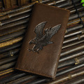 Top Quality Hot Sale Cattle Men male Vintage Black Genuine leather Card Coin Holder Long Checkbook Wallet Purse