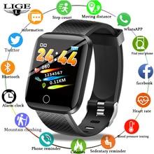 LIGE 2019 New Smart Bracelet Heart Rate Blood Pressure Monitor fitness Tracker Sport Pedometer Band Pulseira inteligente