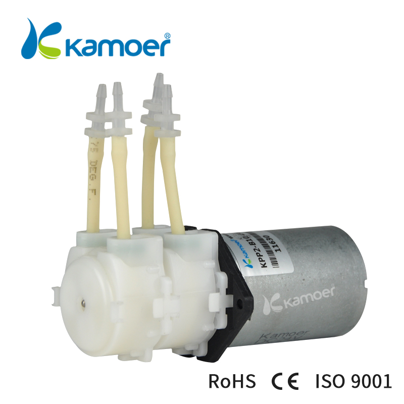 Kamoer KPP2 12V DC water pump double head mini peristaltic pump 12V micro peristaltic dosing pump mini electric water pump B10 kamoer 24vsmall peristaltic pump mini water pump liquid filling machine