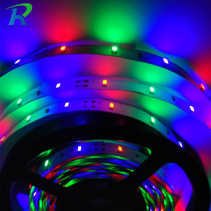 5M Led Flexible Light 3014 RGB Led Strip DC12V Ribbon Tape Strip  High Brightness Decor String Tape