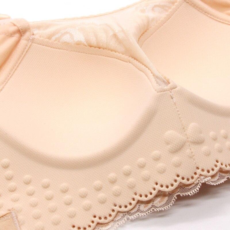 plus size bra Ring free thin cotton cup lace large underwear underwear women fat MM sexy bra droop free cotton cup bra 120E in Bras from Underwear Sleepwears