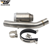 ZS Racing 51mm Modified AR Exhaust Pipe Benelli BJ300 BJ300GS Middle Pipe Motorcycle Muffler Pipe With
