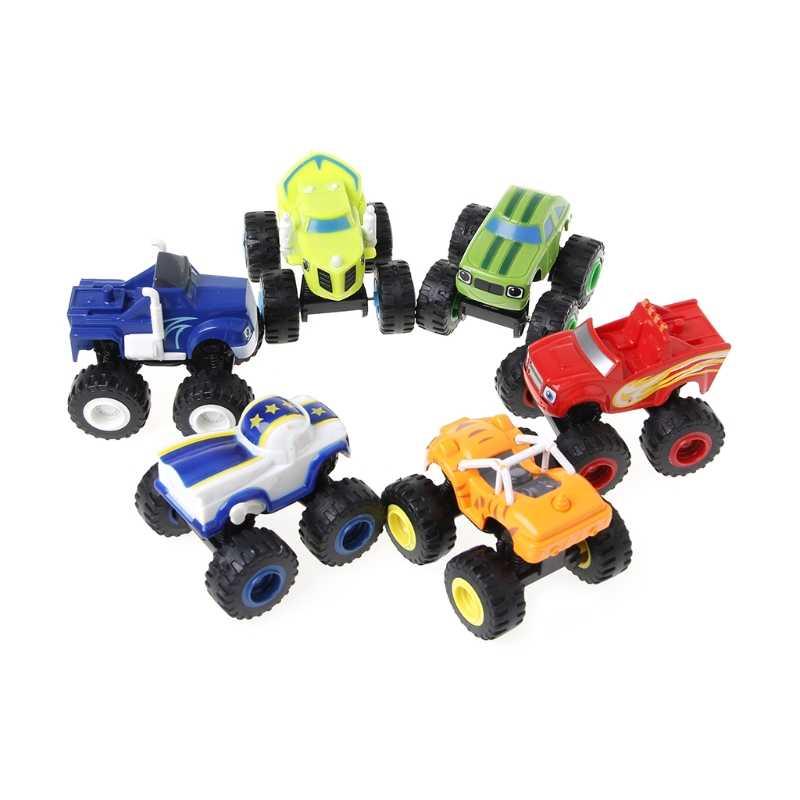 6 Pcs/set Blaze Racer Mobil Kendaraan Truk Hadiah Untuk Anak-anak Mainan Mainan Mesin Diecasts Toy Kendaraan Diecast