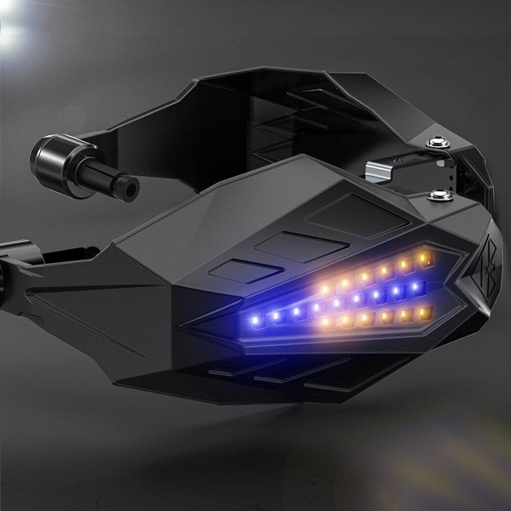 Защита рук для мотоциклов ручная защита мотокросса для honda vfr honda cb600f hornet yamaha wr450f honda goldwing gl1800 yamaha wr250f - Цвет: Blue light
