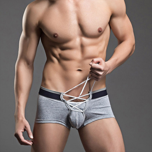 Men's boxer  underwear cotton bandage personalized shorts tide home leisure section 2016 Boxer Quick-drying