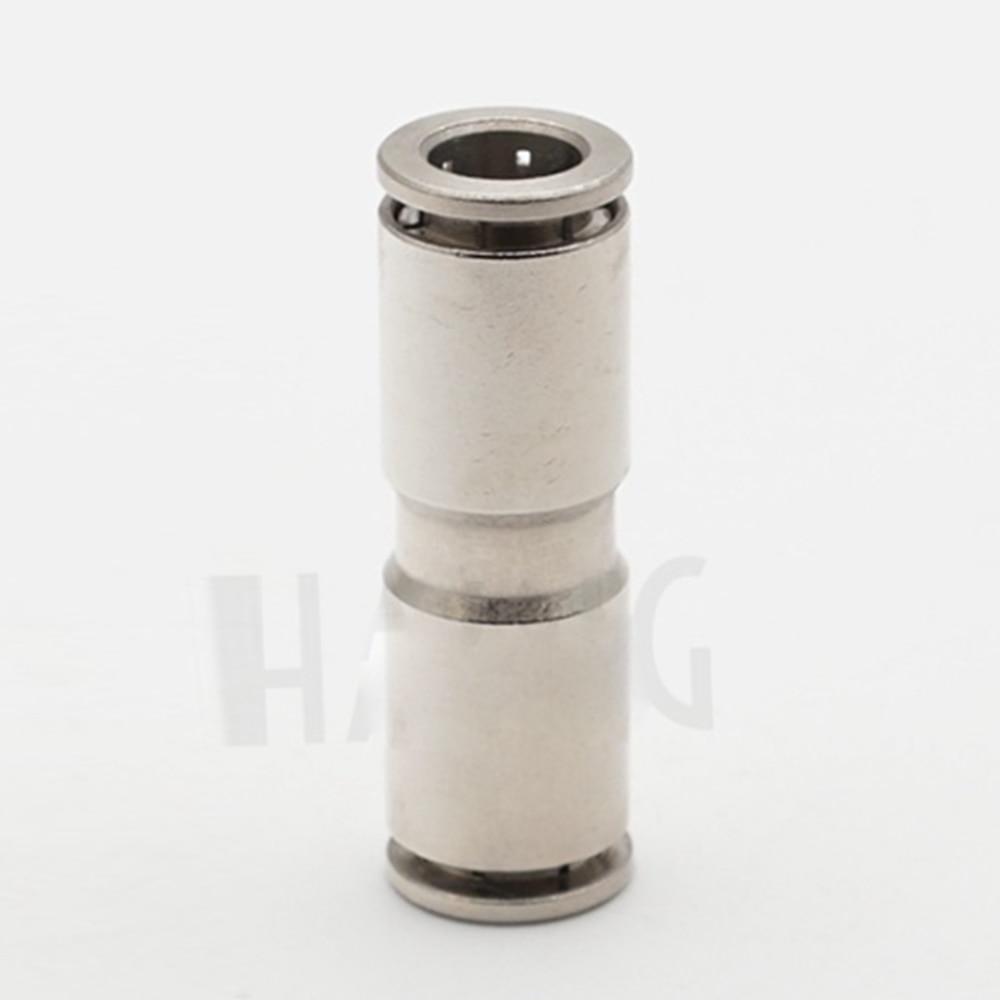 цена на Legines DOT Nickel Plated Brass Push In Fitting, Air Brake Union,1/4