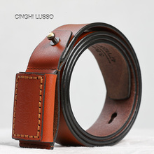 CINGHI LUSSO top leather mens belt new design denim original brand handmade