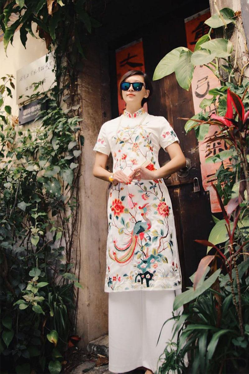 2019 Vietnam Clothing Vintage Clothing Aodai Traditional Asian Dress Party Dress Chiffon Ao Dai Asian Dress Embroidery