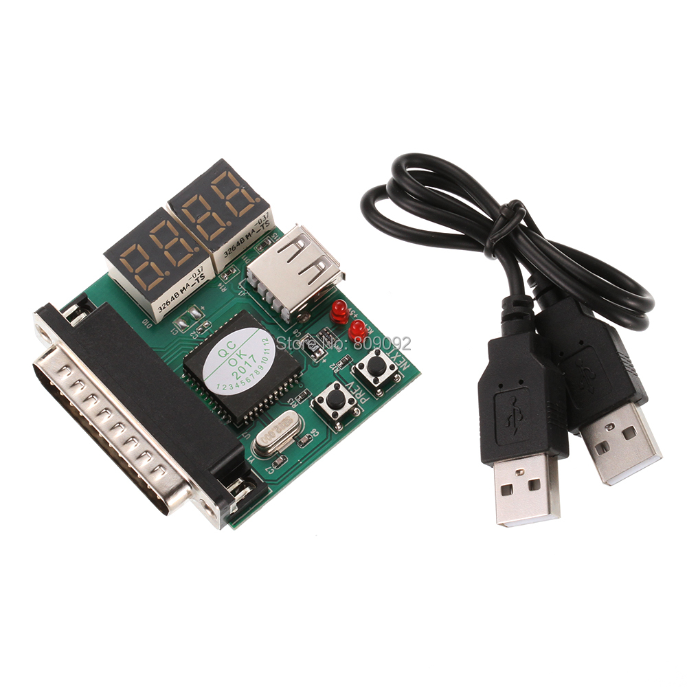 Computer 4-Digit Laptop PC Motherboard USB& PCI Analyser Diagnostic Test Post Card Tester For Notebook Laptop