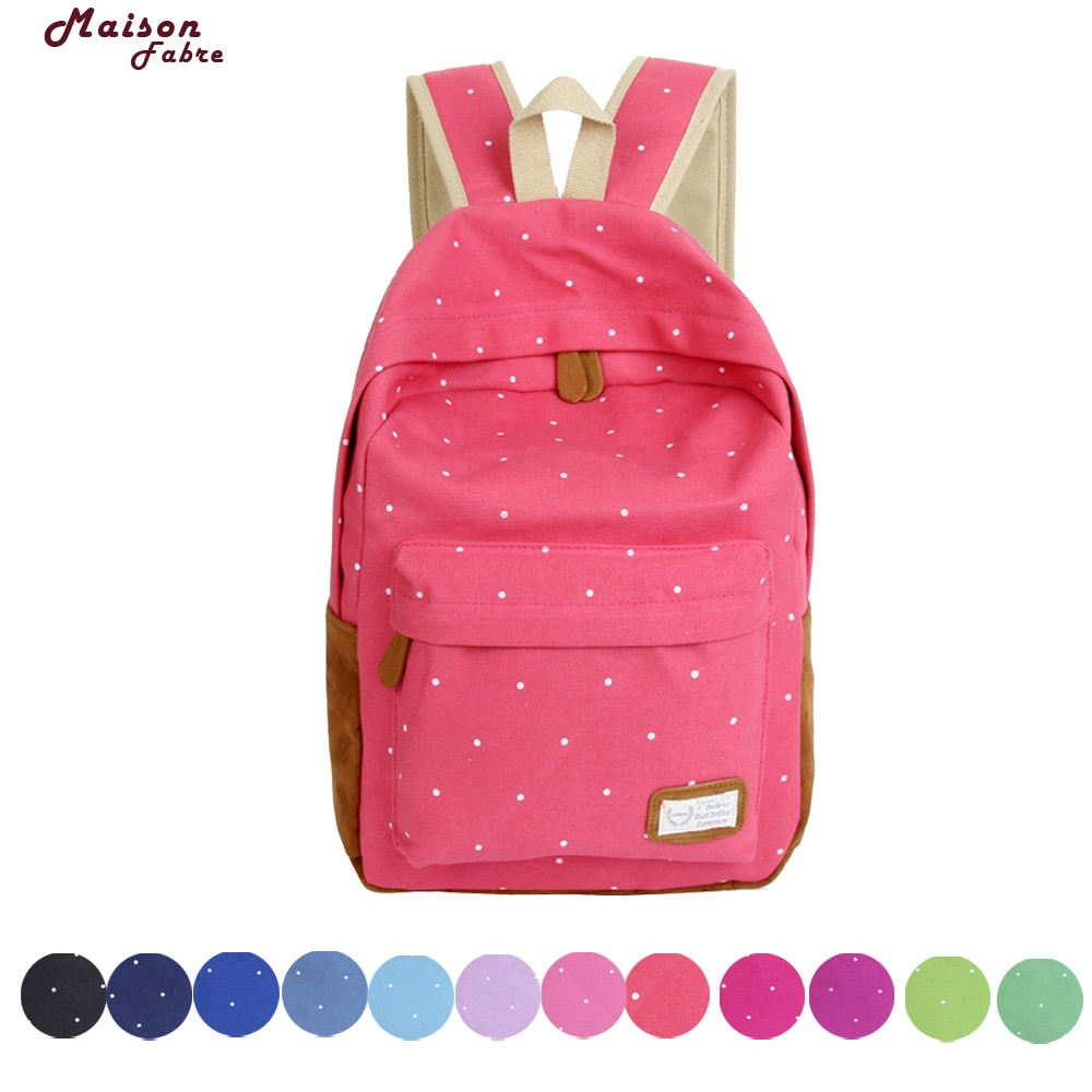 Maison Fabre New Fashion casual canvas backpack women school bags for teenage girls flower printing backpack