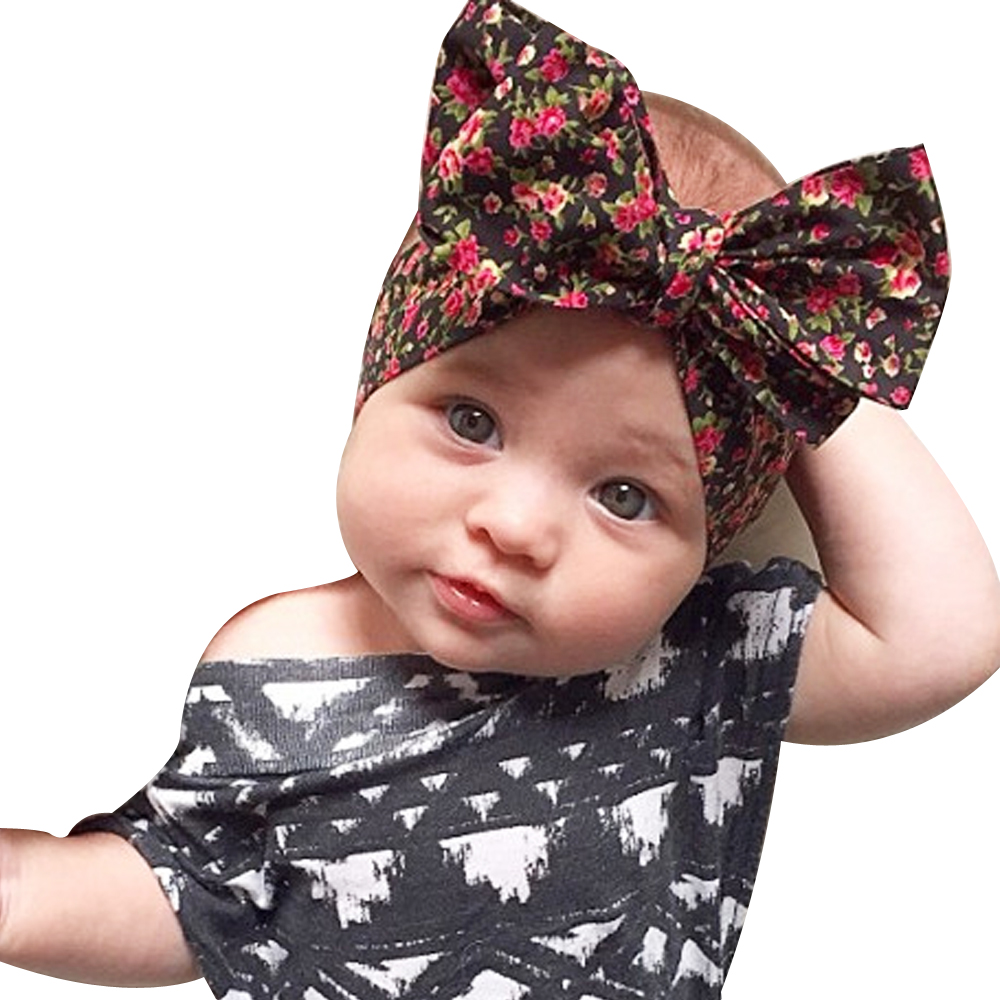 2017 Fashion Rabbit Ears Hair Ornaments Tie Bow Headband Hair Hoop Stretch Knot Bow Cotton Headbands Hair Accessories KT038 1 pc women fashion elastic stretch plain rabbit bow style hair band headband turban hairband hair accessories