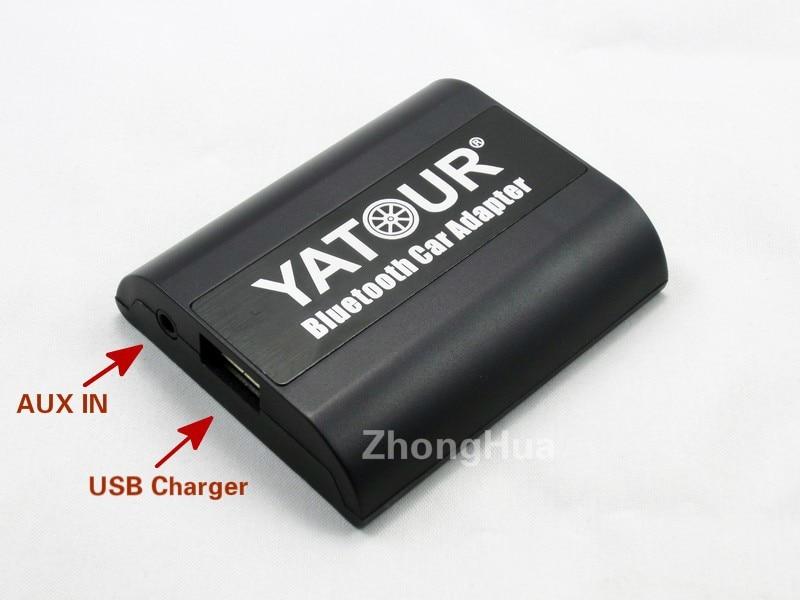 Автомобильный комплект YTBTA AUX Bluetooth для Yatour Toyota Corolla Lexus 6 + 6 контактный радио с MP3 плеером для навигации и аудиосистемы - 3
