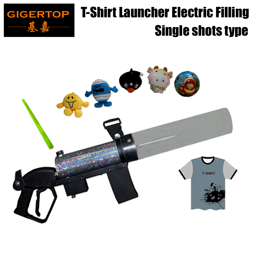 Gigertop Co2 T-shirt Cannon with Plastic Pipe Long Distance Gift Jet Trigger Micro Mini T Shirt Launcher Gas Store Tank цена