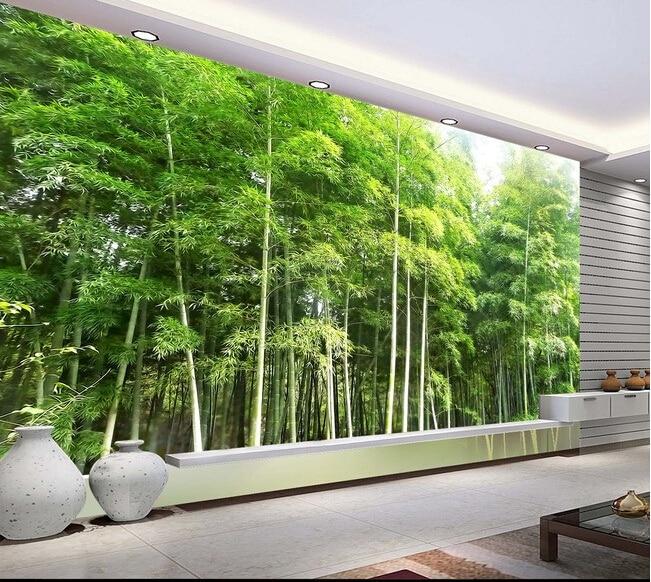 3d wallpaper custom mural non-woven 3d room wallpaper  Bamboo forest landscape setting wall murals photo wallpaper for walls 3d