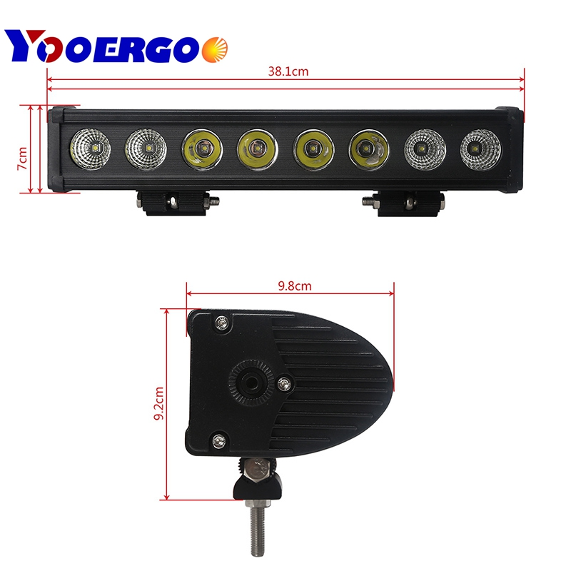 "16"" 80w Led Light bar Single Row led bar light 4x4 off road SUV Tractor Truck led light bar/work light"