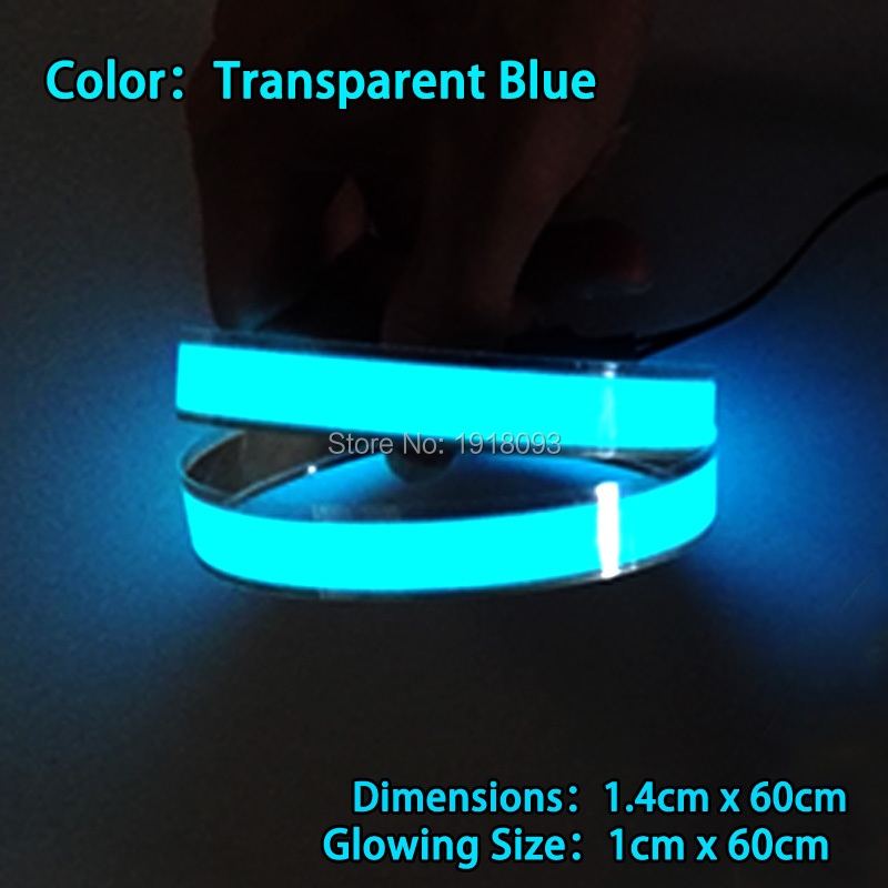 Lighting Color Transparent blue LED Strip Lights For Night Club Dance DJ Decoration DIY Supplies