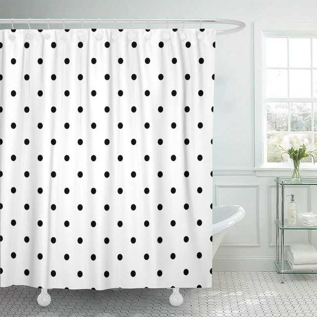 Monochrome Polka Dots Dotted Endless Linear Round Black White