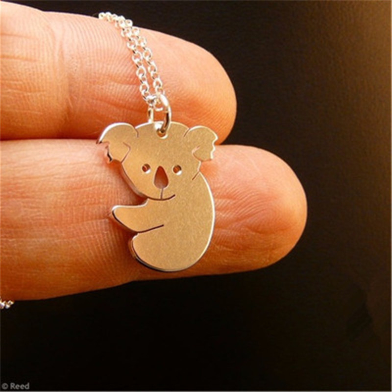 Big Sale Cute animal necklace <font><b>jewelry</b></font>.Cute <font><b>koala</b></font> <font><b>bear</b></font> necklace. Tropical animal necklace. Hot to send friends gifts image