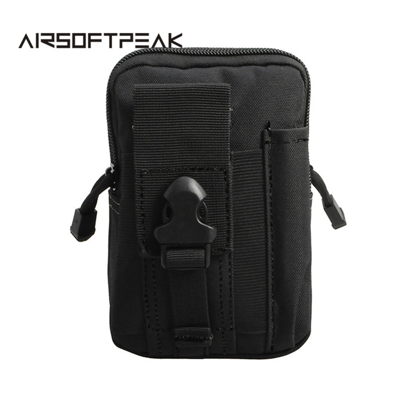 AIRSOFTPEAK Universal Outdoor Tactical Holster Military Molle Hip Waist Belt Bag Wallet Pouch Purse Phone Case For iphone 7 цена