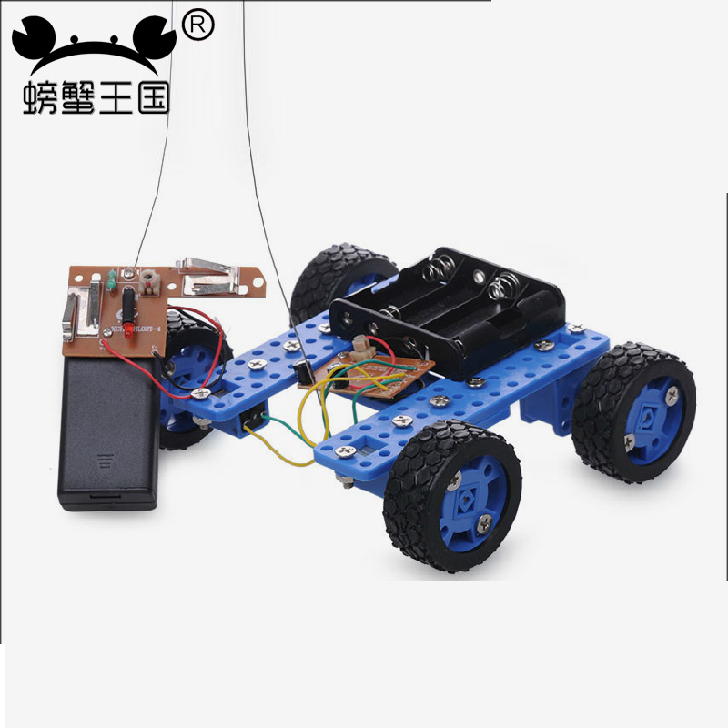 PW M37 DIY Mini RC Car with Remote Controller Gear Motor Technology Invention Funny Puzzle Education KD Car Toy wenhsin pw m25 diy mini rc tank with