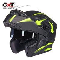 New fashion comfortable flip up Moto Helmet sun visor safety Double Lenses GXT Motorcycle Helmet DOT certified Motorbike helmet