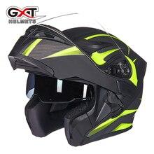 New fashion comfortable flip up Moto font b Helmet b font sun visor safety Double Lenses