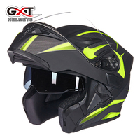 Free Shipping New Style Fashion Comfortable Face Helmet With Sun Visor Safety Double Lenses GXT Motorcycle