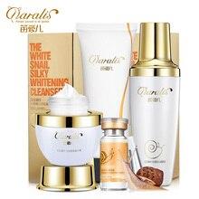 2017 The Snails liquid set whitening cream cleansing cream moisturizing repair set Acne Treatment Black Head