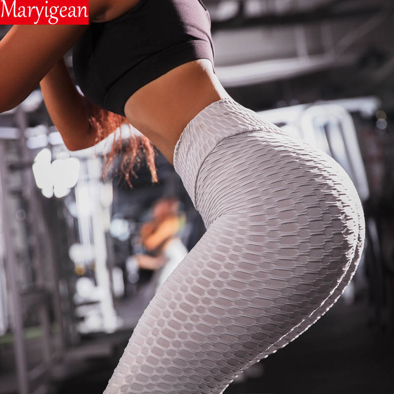 Maryigean Solid Sexy Push Up   Leggings   Women Fitness leggins High Waist   legging   Pants Female Workout Breathable Skinny   Leggings