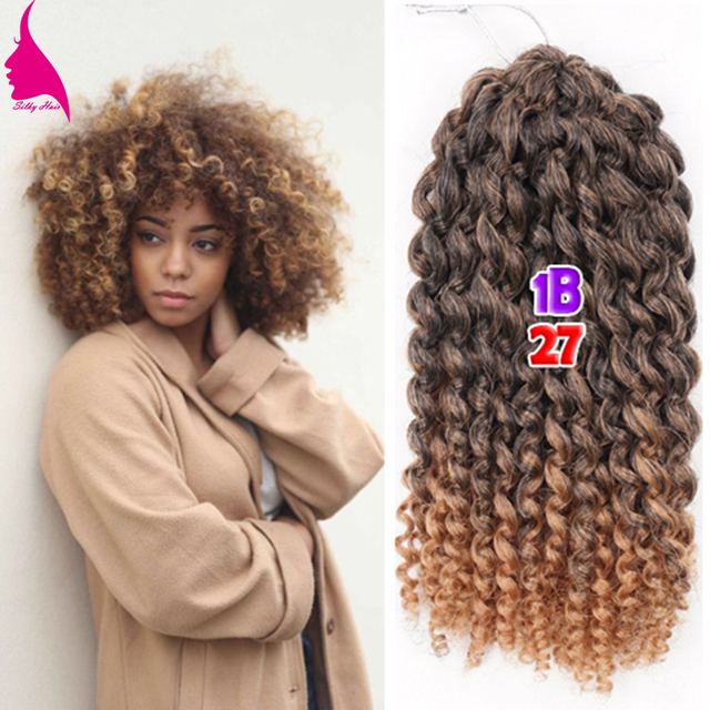 8 Inch Short Curly Crochet Braid Hair 90g Set Freetress Ombre Synthetic Marlybob