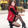 2017 cotton vest women autumn and winter large yards tide stand stand wild new short section of the vest