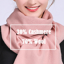 Women Winter Cashmere Scarf New Brand 2020 Echarpe Wraps for Ladies Tassel Solid
