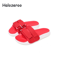 Summer 2019 New Kids Beach Slippers Baby Boys Casual Slides Children Sport Slippers Girls Pu Leather Shoes Brand Black Slippers