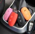 ACCESSORIES SILICONE KEY COVER FIT FOR SUZUKI SX4 2013 2014 2015 S-CROSS SWIFT SPORT KIZASHI REMOTE SMART HOLDER FOB CASE SHELL