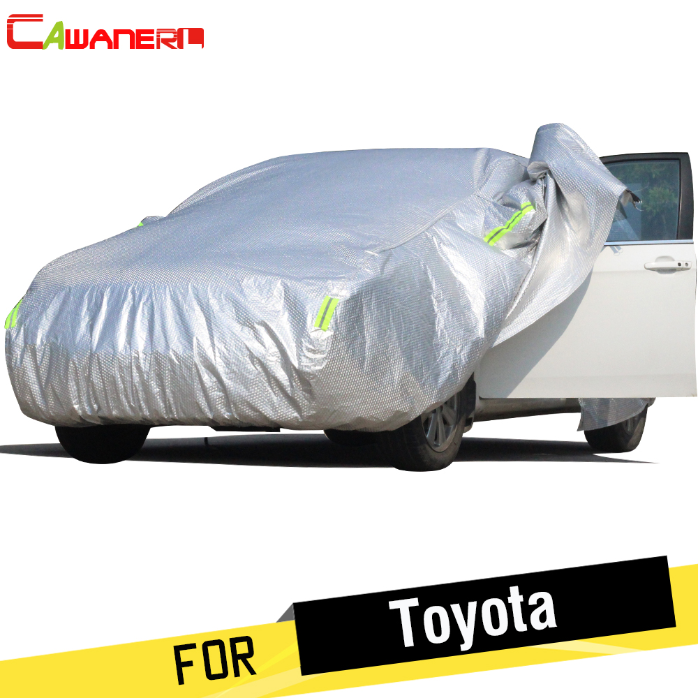 Cawanerl Thicken Cotton Car Cover Waterproof Sun Snow Rain Protection Cover For Toyota Crown Vios Highlander Camry Levin YarisCawanerl Thicken Cotton Car Cover Waterproof Sun Snow Rain Protection Cover For Toyota Crown Vios Highlander Camry Levin Yaris