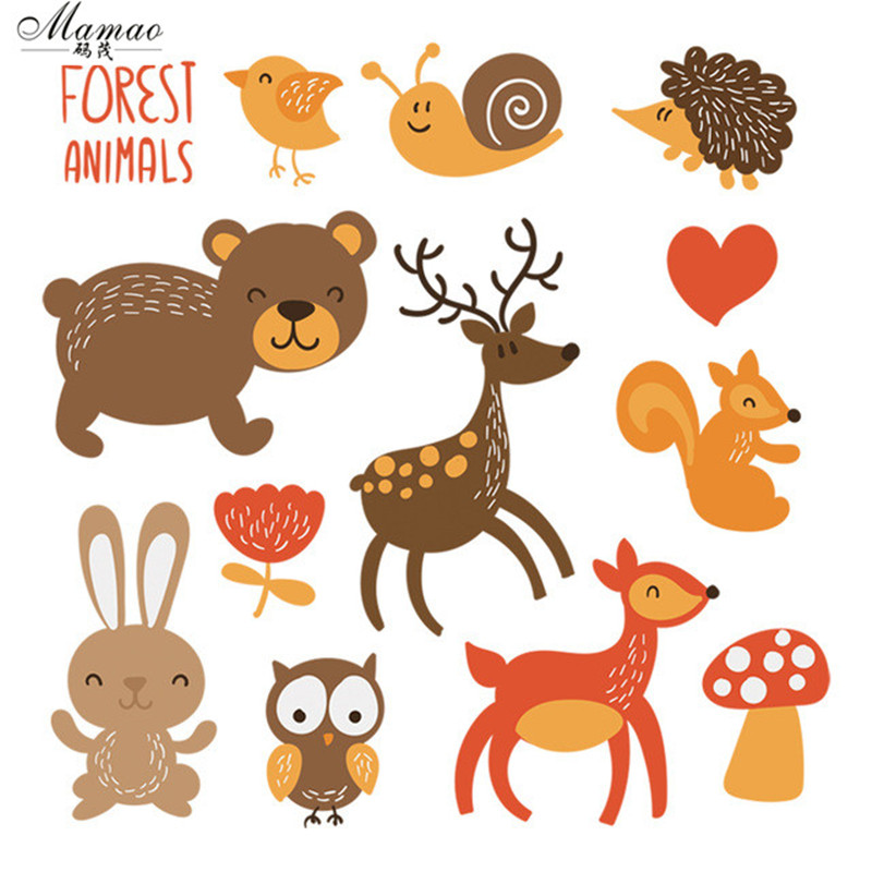 MAMAO वन पशु कपड़े पैच आयरन - कला, शिल्प और सिलाई