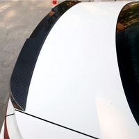 Rear Trunk Spoiler V Type High Quality ABS Material Primer Color Car Tail Wing Decoration For Audi A4 B8.5 2013 2014 2015 2016