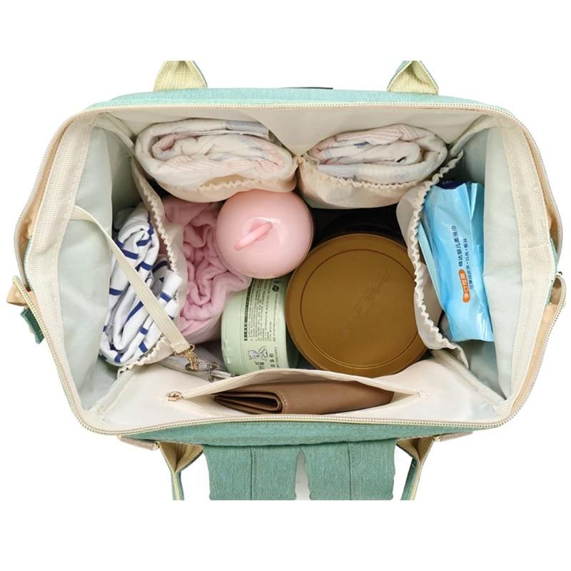 Bolsa de pañales de bebé momia maternidad bebé bolsa de pañales - Pañales y entrenamiento para ir al baño - foto 4