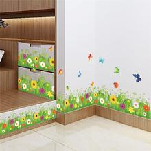 colorful flowers butterflies fences baseboard wall decals home decorative stickers living bedroom mural art diy 3d posters 049. high quality 3d colorful butterflies shape removeable wall stickers