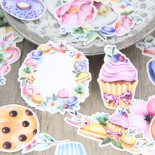 26 stks/set Aquarel Macaron Donuts Voedsel Zelfgemaakte Scrapbooking Kalender Laptop Sticker Tags Mobiel Decoraties Baby Meisje(China)