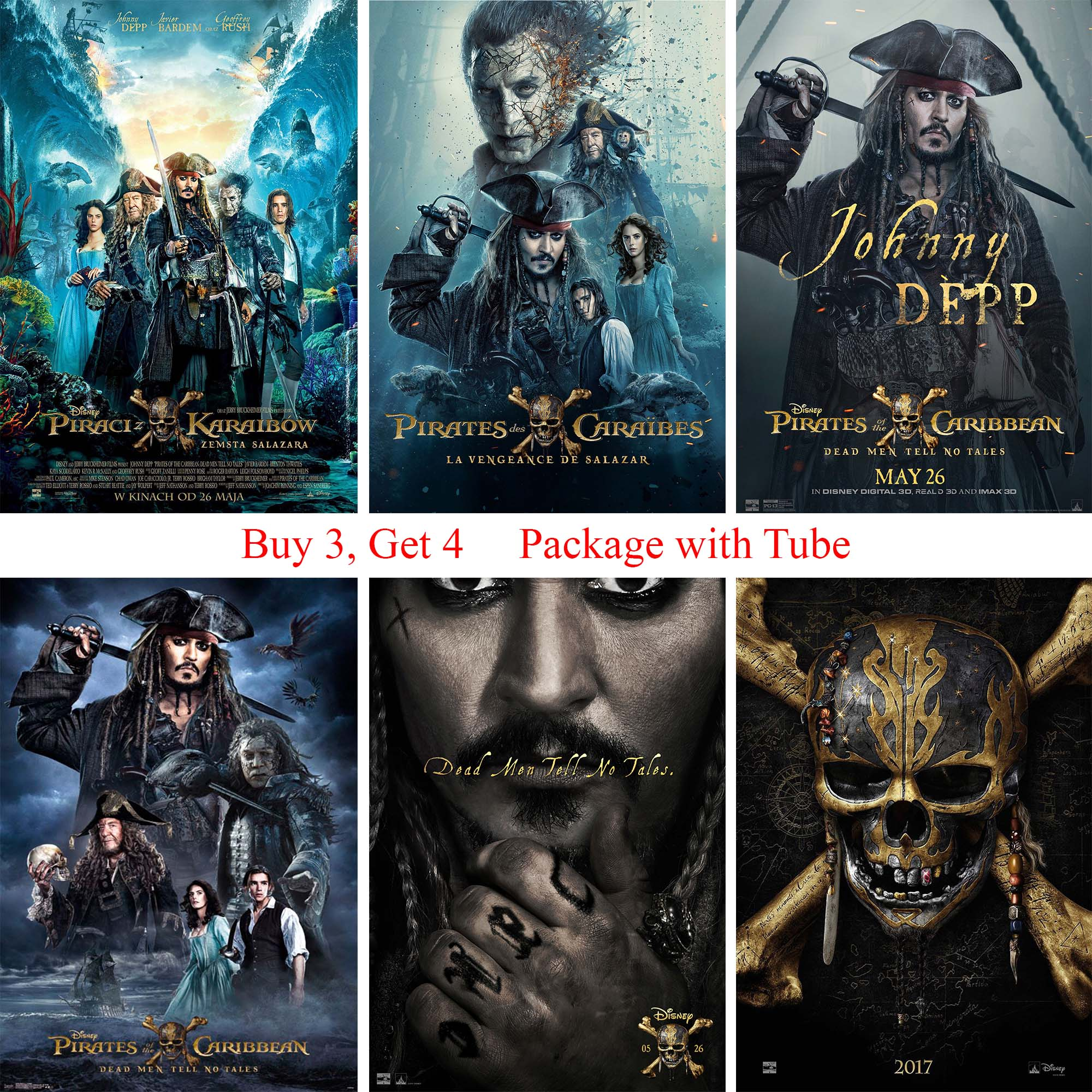 pirates of the caribbean posters white coated paper prints wall stickers home decoration for livingroom bedroom home art