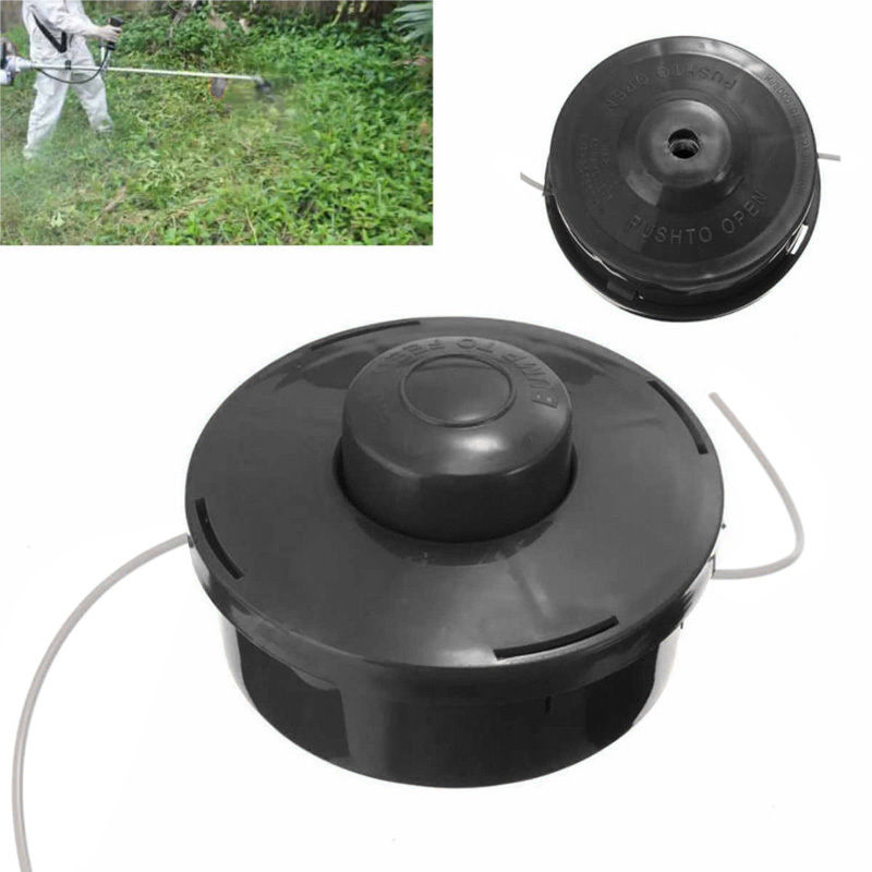 Universal Nylon Line Brush Cutter Head Garden Lawn Mower Bump Grass Brush Trimmer Head Repalcement Tools Black mayitr trimmer head petrol strimmer bump feed line spool brush cutter grass lawn mover parts garden tools